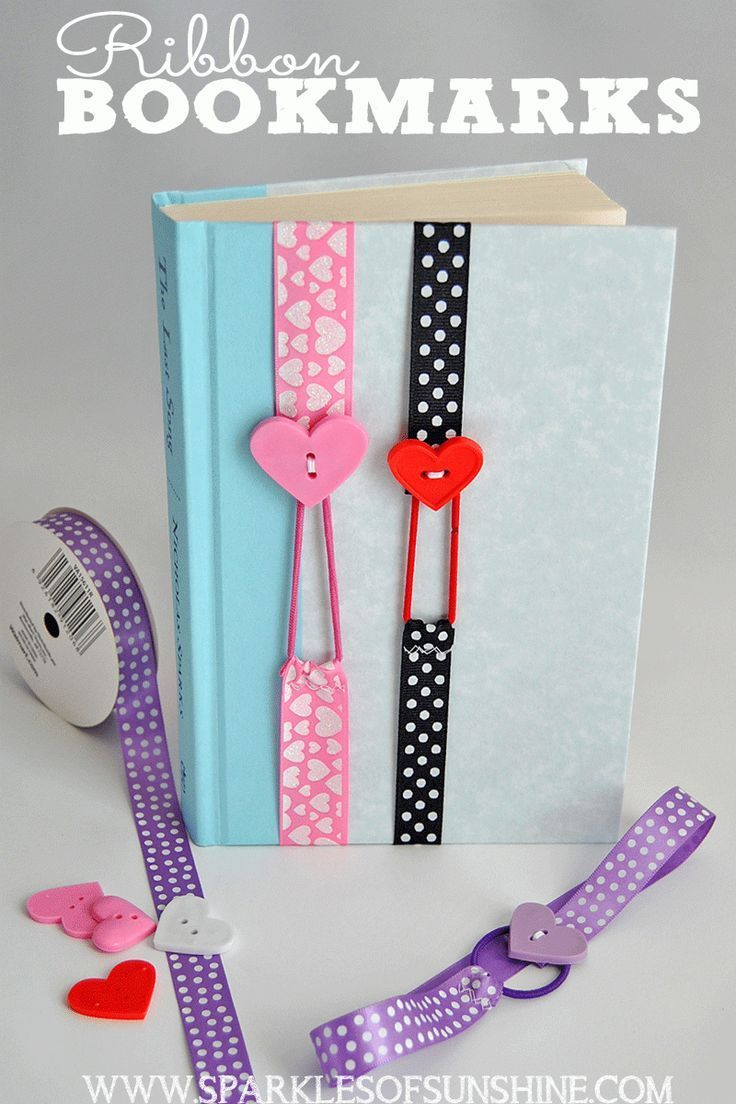 25 best ideas about Ribbon bookmarks on Pinterest  Easy ribbon crafts Book marks and Button