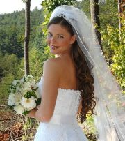 updos with headbands bride