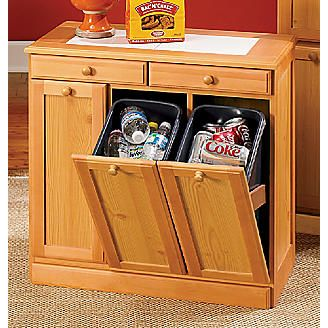 hide away trash bin kitchen cabinet makeover kitchen...but as part of the built in cabinets | home ...