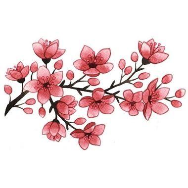 Blhende Kirschblten Tattoo  Blumen  Pinterest