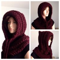 hooded scarf: NEW 790 MENS HOODED SCARF CROCHET PATTERN