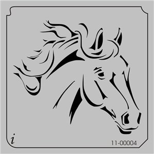 Horse head, Stencils and Horses on Pinterest