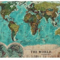 Carpet For Living Room Wallpaper Designs Vintage World Map Rug | The Places We'll Go