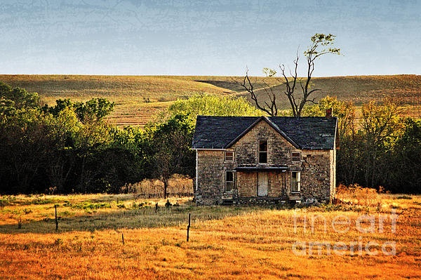 Stone House On 1000 Road Kansas Sharlotte Hughes Photography Pinterest Canvas Prints