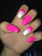 ideas hot pink nails