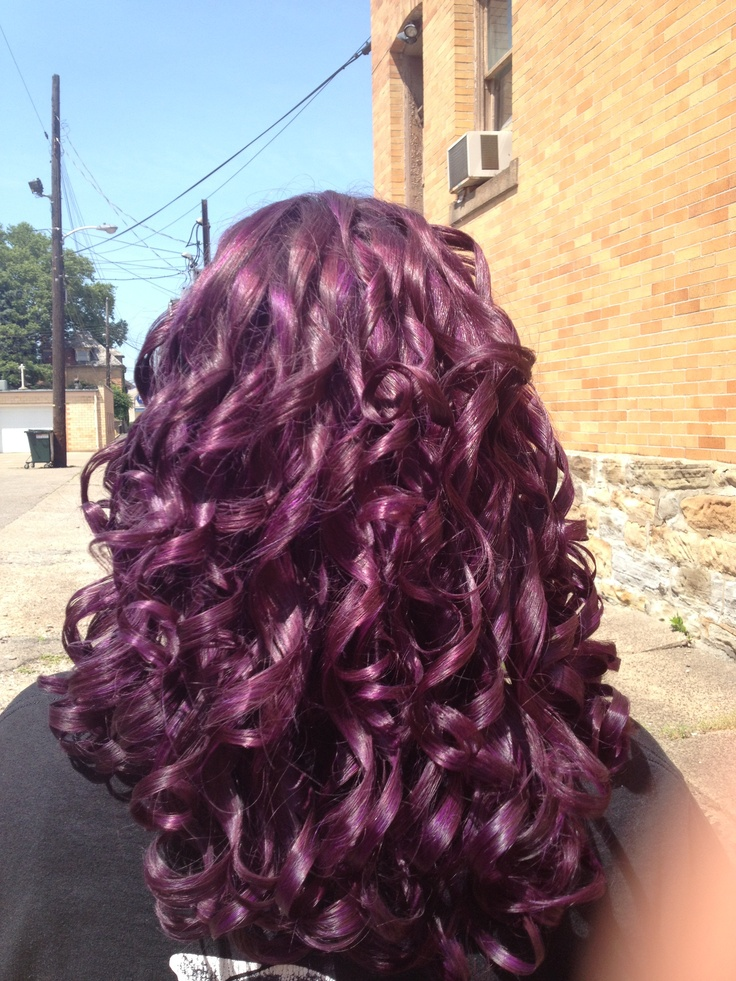 Violet Curly Hair Hair And Makeup Pinterest Hair
