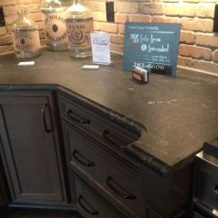 Soapstone Kitchen Countertops Outdoor Design Via Lactea Suede Granite- Black With White Veins. ...