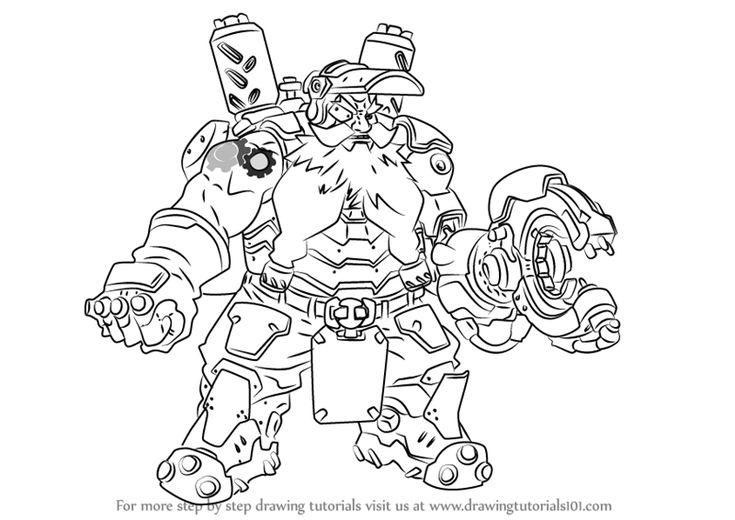Learn How to Draw Torbjorn from Overwatch (Overwatch) Step
