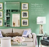sea glass walls for a coastal cottage | Family room ...