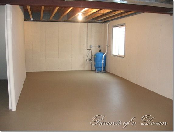 DIY Finished Basement...spraying The Walls And Floors With