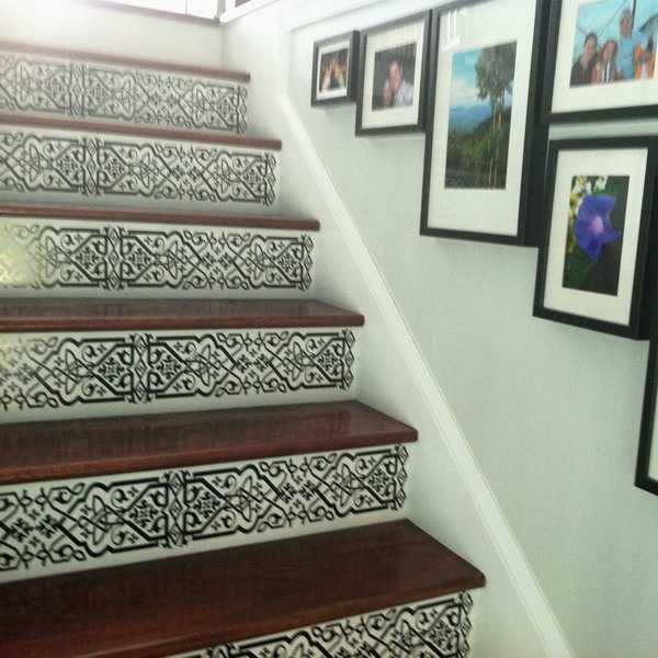 25+ best ideas about Painted Stair Risers on Pinterest