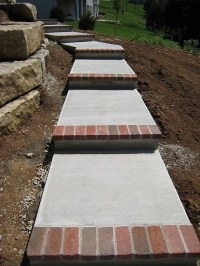 Concrete steps with brick toe | New house. New style ...