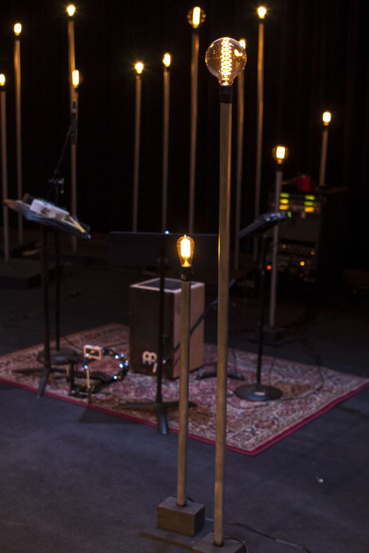 Edison bulbs on stands  Stage Designs  Pinterest  Be