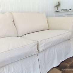 Slipcovers For Club Chairs Painted Dining Shabby-chic Style Custom Slipcover Made With #12 Cotton Duck Cloth From Big Canvas. Super ...