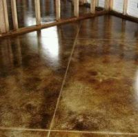 Stained concrete for basement floor | Home Ideas -Wants ...