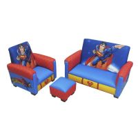 Superman Toddler 3-Piece Sofa, Chair & Ottoman Furniture ...