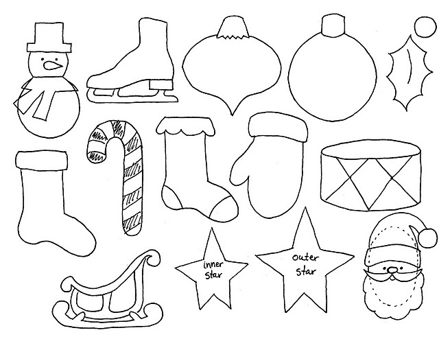 Advent Calender Ornament Templates, good to use to make