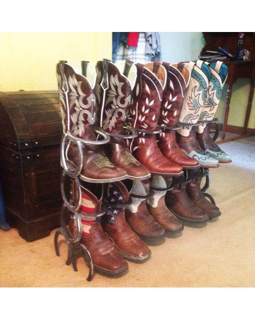 Fabrication By Bruce Double Row Horseshoe Boot Rack Raw