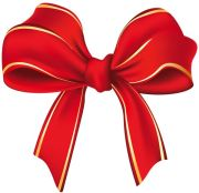 christmas bow decoration clipart