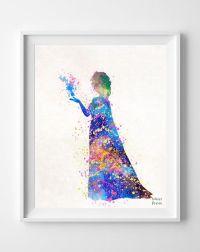 Elsa Print, Frozen Poster, Disney Princess, Elsa Art ...