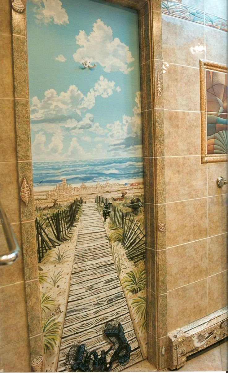 Trompe Loeil Beach Murals Of Fire Island Beach Scenes