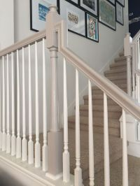 25+ best ideas about Painted banister on Pinterest