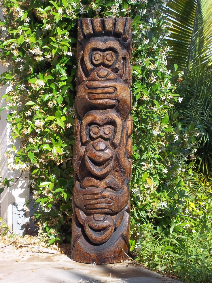 tree stump chairs chair cover rentals fresno ca see no- hear speak no carved by skootiki | tikis pinterest canes and design
