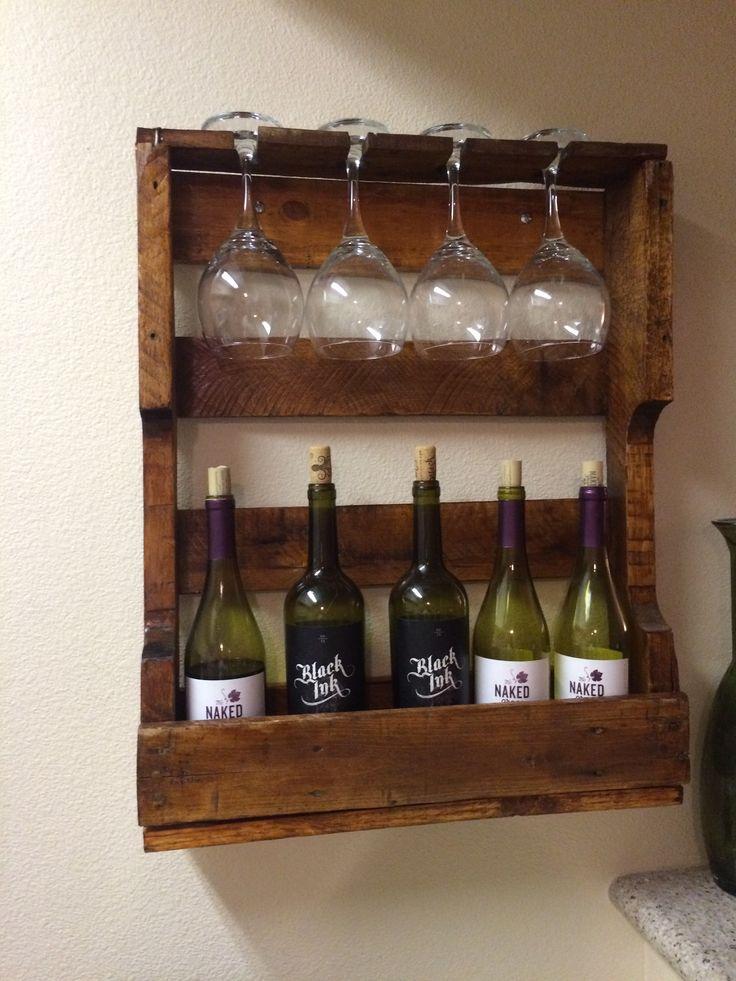 Pallet Wine Rack Ideas For The House Pinterest Wine