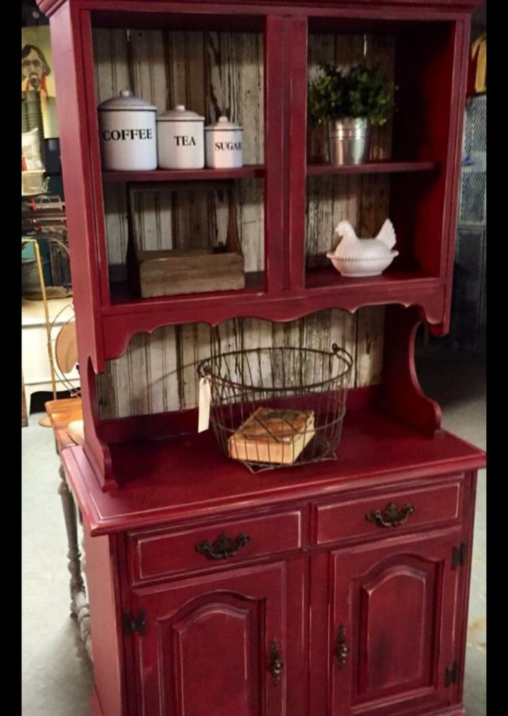primitive kitchen cabinets designs with islands best 25+ red hutch ideas on pinterest   buffet, ...