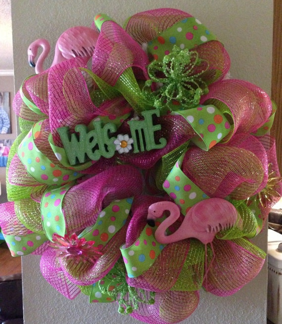 1000 Images About Flamingo Wreaths On Pinterest Luau