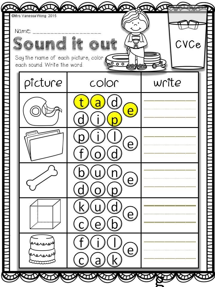 Download free printables at preview. Sound it out-CVCe