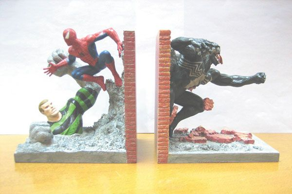 book ends spiderman  Image SpiderMan Resin Bookends