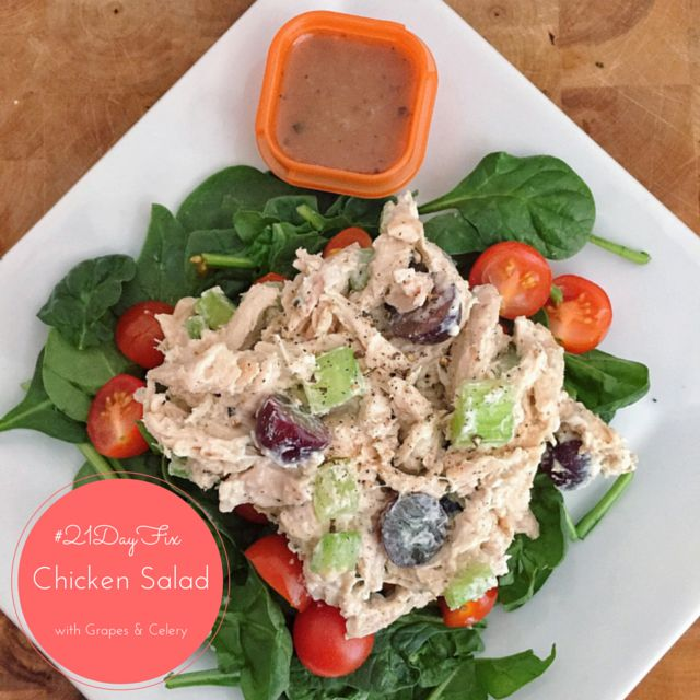 21 Day Fix: Chicken Salad made with Greek Yogurt with Grapes and Celery