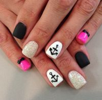 Anchor nail art | Projects to Try | Pinterest | Nail art ...