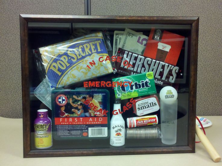 College Survival Kit In Case Of Emergency Break Glass