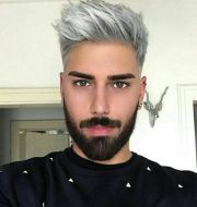 silver hair men ideas