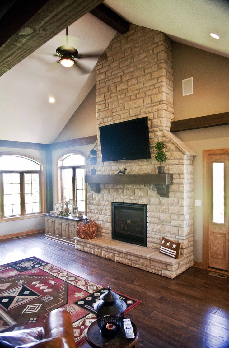 fireplace great room addition  Dougs Designs  Pinterest  Fireplaces Great rooms and Room