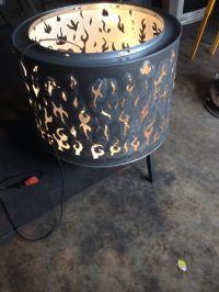 Dryer drum fire pit   Welded creations   Pinterest   Fire ...