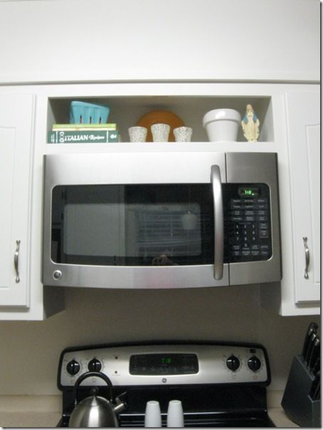 hang an overtherange microwave without an overhead