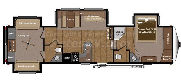 fifth wheel 2 bedroom campers  Roughin it  Pinterest  Rv