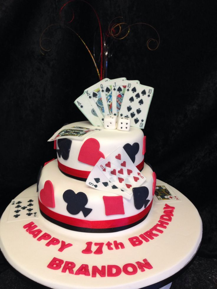 Playing Card Cake Cake Amp Cupcake Ideas Pinterest