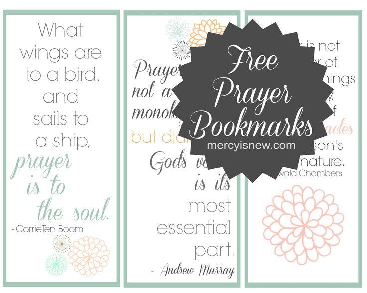Free Printable Prayer Bookmarks I Planner Pinterest