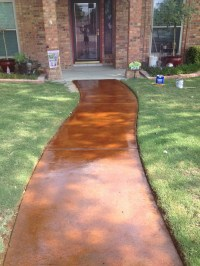 Stained Concrete Walkway | Stained & Scored Concrete ...