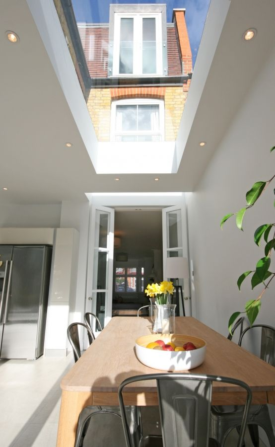 double glazed kitchen doors vegas hotels with 25+ best ideas about flat roof skylights on pinterest ...