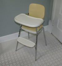 Vintage COSCO Chrome Steel Baby High Chair STURDY Fixed ...