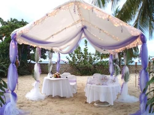 tulle tent decorations  Birthday  Pinterest  Pavilion Outdoor wedding reception and Wedding