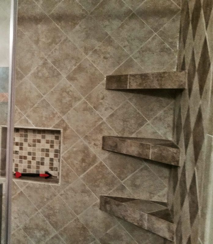 17 Best ideas about Shower Shelves on Pinterest