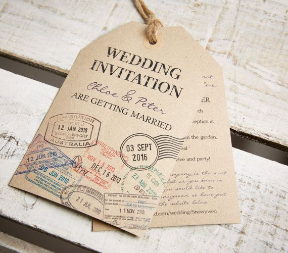 17 Best ideas about Luggage Tags Wedding on Pinterest