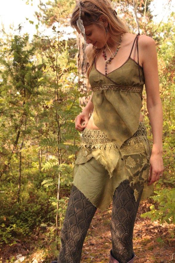 Spiral Dance Pixie Skirt Faerie Costume Skirts Silk
