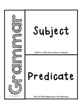 The 25+ best Subject predicate activities ideas on